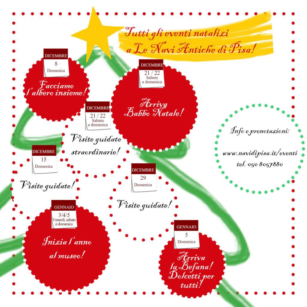 Programma completo degli appuntamenti natalizi a Le Navi Antiche di Pisa